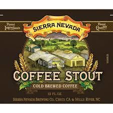 Sierra Nevada Coffee Stout beer Label Full Size