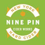 Nine Pin Blueberry Cider beer Label Full Size