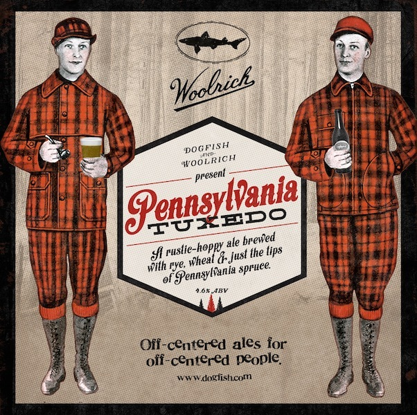 Dogfish Head Pennsylvania Tuxedo beer Label Full Size