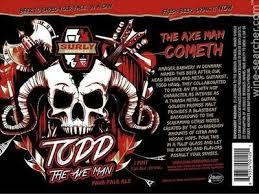 Surly Todd The Axe Man beer Label Full Size