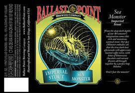 Ballast Point Sea Monster Whiskey Barrel Aged beer Label Full Size