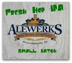 AleWerks AKA Fresh Hop IPA beer Label Full Size