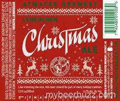 Atwater Lebkuchen Christmas Ale beer Label Full Size