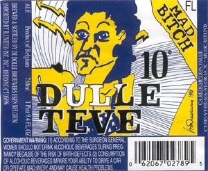 De Dolle Dulle Teve beer Label Full Size