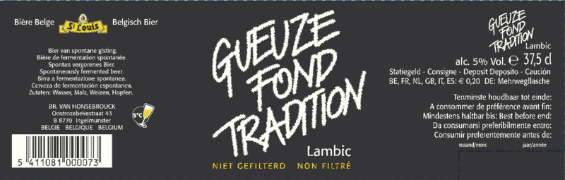 St. Louis Gueuze Fond Tradition beer Label Full Size
