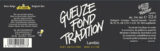 St. Louis Gueuze Fond Tradition beer