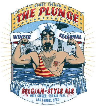 Coney Island The Plunge beer Label Full Size