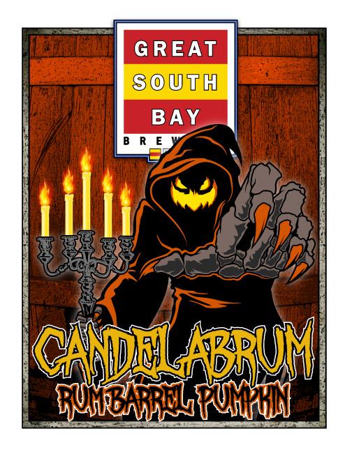 Great South Bay Candelabrum beer Label Full Size