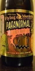 Flying Monkeys Paranormal Imperial Pumpkin Ale beer Label Full Size