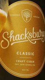 Shacksbury Classic Craft Cider beer Label Full Size