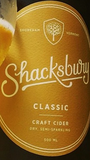 Shacksbury Classic Craft Cider Beer