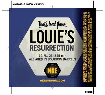 Milwaukee Louie's Resurrection beer Label Full Size