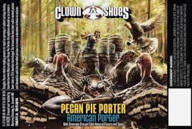 Clown Shoes Pecan Pie Porter 25% bourbon aged beer Label Full Size