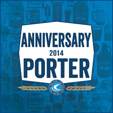 Confluence 2nd Anniversary Porter beer Label Full Size