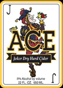 Ace Joker Apple Cider beer Label Full Size