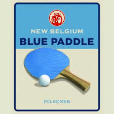 New Belgium Blue Paddle beer Label Full Size