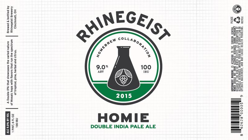 Rhinegeist Homie beer Label Full Size