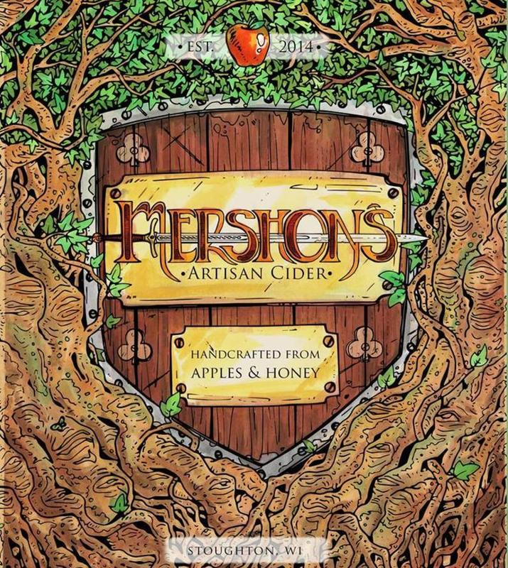 Mershons Artisan Cider beer Label Full Size