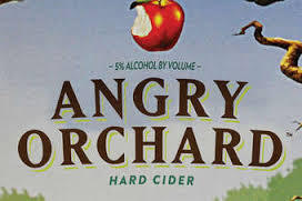Angry Orchard Hop'n Mad Apple beer Label Full Size