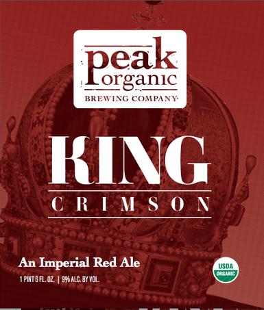 Peak Organic King Crimson beer Label Full Size