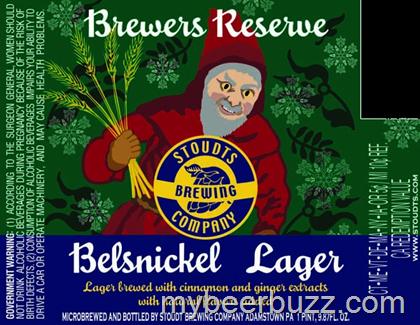 Stoudts Belsnickel Lager beer Label Full Size
