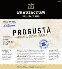 Braufactum Progusta IPA beer Label Full Size
