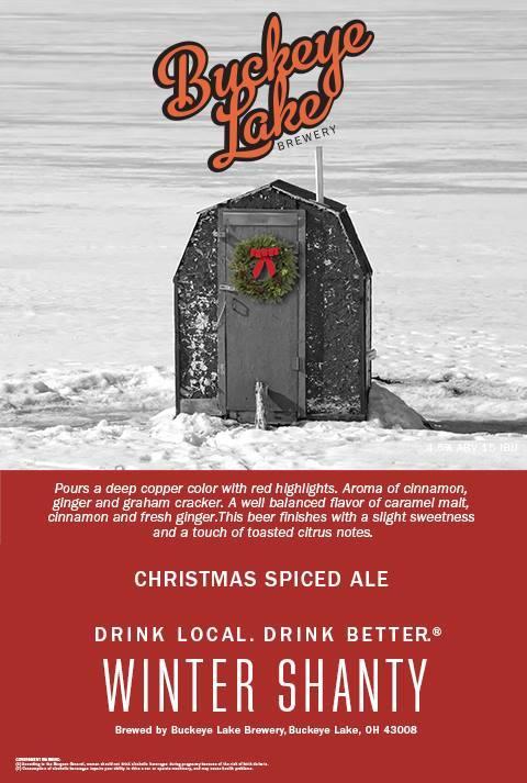 Buckeye Lake Winter Shanty Christmas Ale beer Label Full Size
