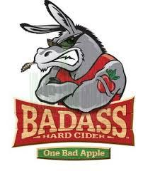 Badass Hard Cider One Bad Apple beer Label Full Size