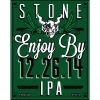 Stone Enjoy By 12.26.14 beer Label Full Size