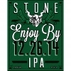 Stone Enjoy By 12.26.14 beer