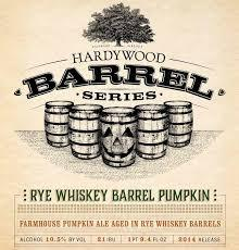 Hardywood Park Rye Whiskey Barrel Pumpkin beer Label Full Size