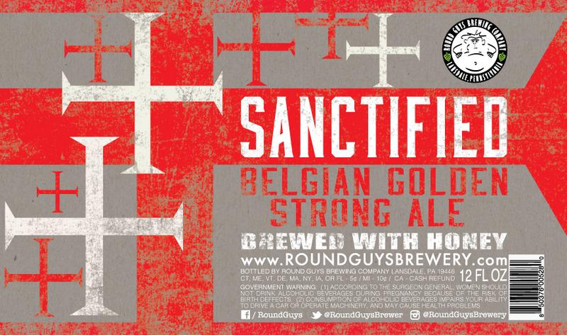 Round Guys Sanctified Belgian Golden Strong beer Label Full Size