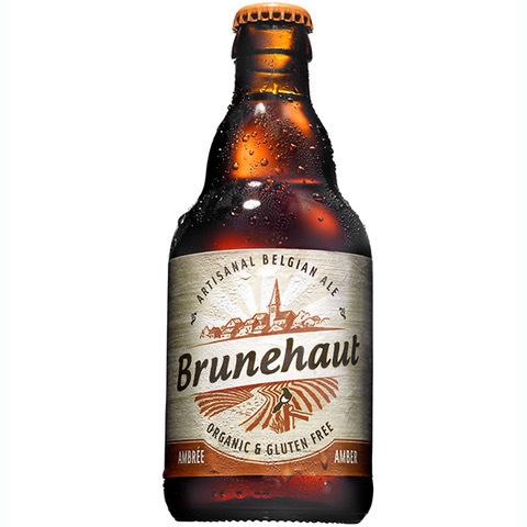 Brunehaut Organic Amber (Ambree) Ale beer Label Full Size