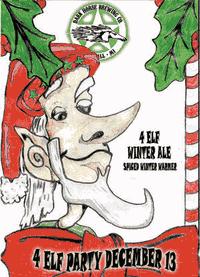 Dark Horse 4 Elf beer Label Full Size