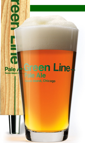 Goose Island Green Line Pale Ale beer Label Full Size