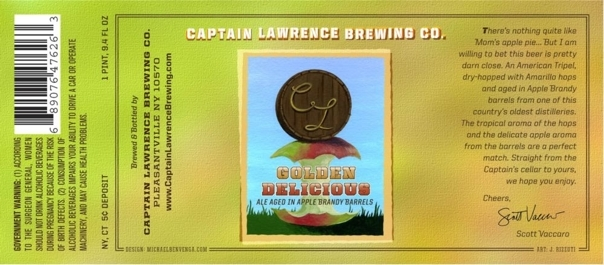Captain Lawrence Golden Delicious beer Label Full Size