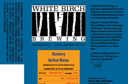 White Birch Blueberry Berliner Weisse - Where to Buy Near Me - BeerMenus