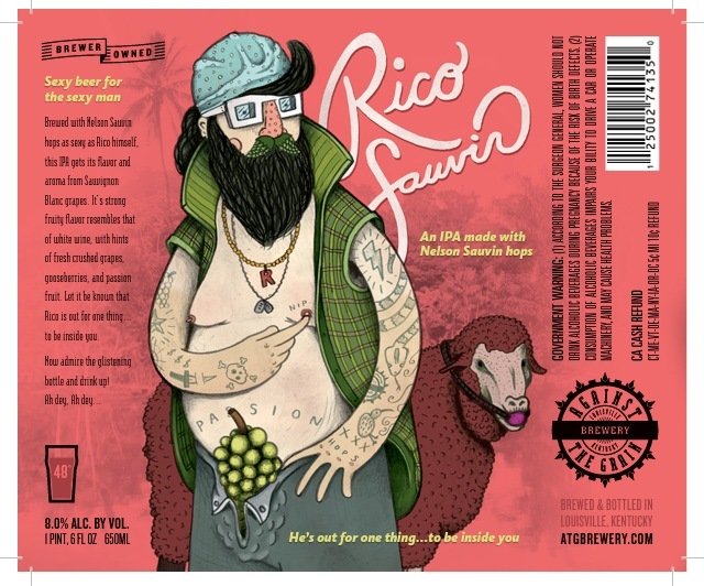 Against The Grain Rico Sauvin beer Label Full Size