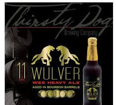 Thirsty Dog Wulver Wee Heavy Scotch Ale beer Label Full Size
