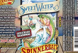 SweetWater Spinnerbait beer Label Full Size