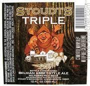 Stoudts Abbey Triple beer Label Full Size