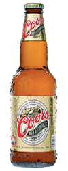 Coors Non-Alcoholic beer Label Full Size