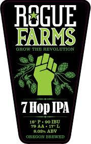 Rogue Farms 7 Hop beer Label Full Size