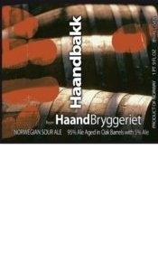 Haandbryggeriet Haandbakk beer Label Full Size