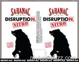 Saranac Disruption Nitro Brown Ale Beer