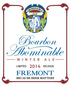 Fremont Coffee Cinnamon Bourbon Abominable beer Label Full Size