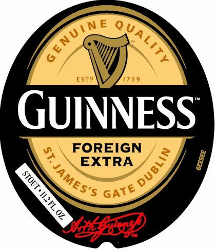 Guinness Foreign Extra Stout beer Label Full Size