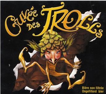 Dubuisson Cuvee des Trolls beer Label Full Size
