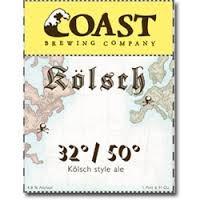 Coast Kolsch 32/50 beer Label Full Size