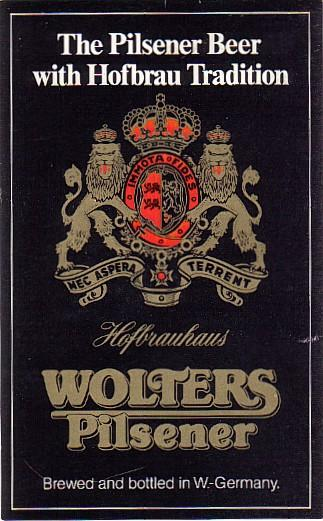 Wolters Pilsener beer Label Full Size